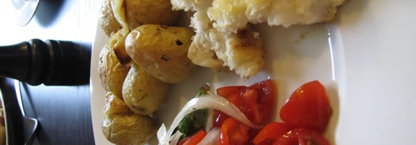 Roast Potatoes and Panko Crusted Cod