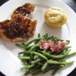 Herbed Corn Muffins and Chicken with Honey-Beer Sauce